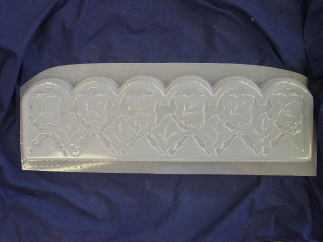 Plain Straight Border Edging Stepping Stone Concrete Mold   5027 Moldcreations