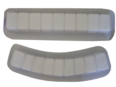 Brick straight and curve concrete mold set 5014