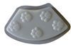 Paw Print Border Concrete Mold 5025