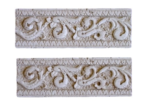 Diamond Border Tile Trim Concrete Cement Plaster Mold Set 6022 Moldcreations