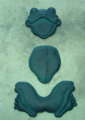 Frog 3 Piece Stepping Stone Concrete Mold Set 7014
