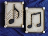Music Notes Plaster Concrete Mold 7025