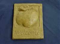 Apple Welcome plaster concrete Mold 7060