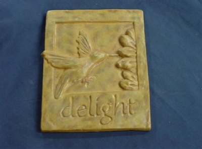Hummingbird Plaster or concrete Mold 7061