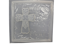 Cross concrete plaster Mold 7077