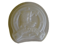 Cowboy welcome concrete mold 7079