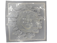 Sun Face Concrete Mold 7084