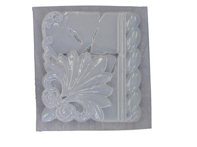 Decorative FLEUR DE LIS Design Plaque Concrete Plaster Mold 7091 Moldcreations