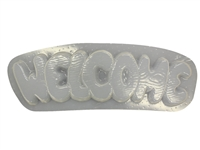 Welcome Plaque Plaster Cement Mold 7090