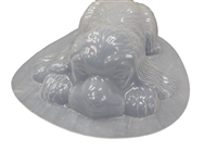 Dog Laying Plaster or Concrete Mold 7099
