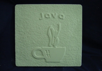 Java Coffee Plaster or Concrete Mold 7109