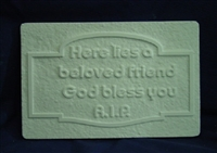Pet Memorial concrete Mold 7113
