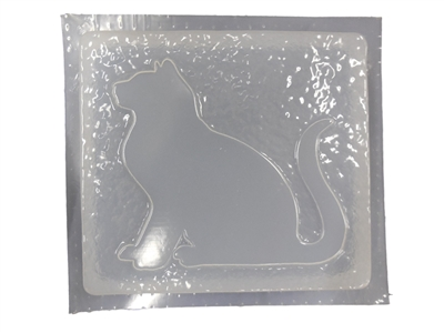 Cat Sitting Concrete Stepping Stone Mold 7116