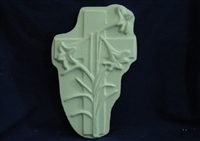 Cross Flower Plaster Concrete Mold 7124