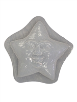 Star Face Plaster or Concrete Mold 7126