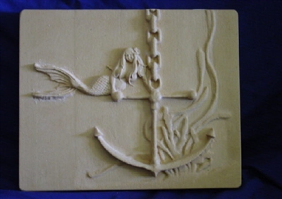 Mermaid plaster, concrete Mold 7154