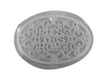 Bless this home plaque plaster mold 7210