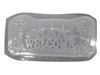 Cowboy welcome plaster concrete mold 7213