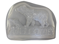 Bear welcome plaster or concrete mold 7215