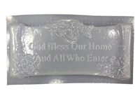 God Bless Our Home plaster or concrete mold 7218