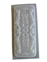 Scrolled Welcome Concrete mold 7219