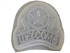 Cowboy welcome concrete mold 7221