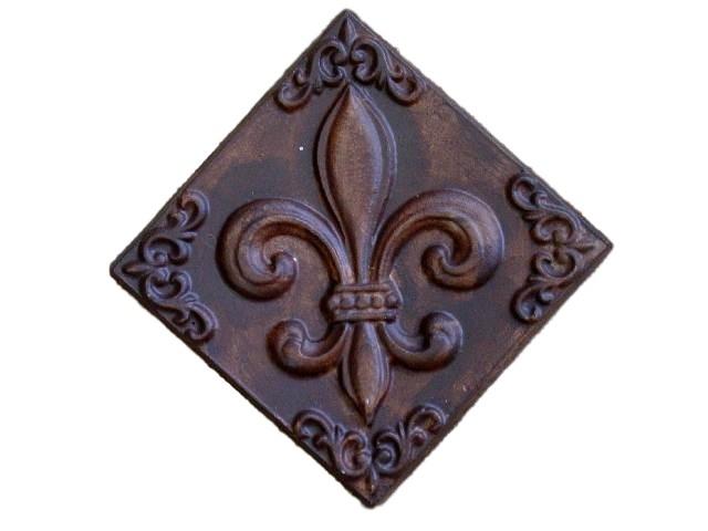 Decorative Fleur De Lis Plaque Plaster or Concrete Mold 7202 Moldcreations