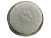Paw print concrete stepping stone mold 7248