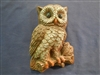 Owl plaster or concrete Mold 7251