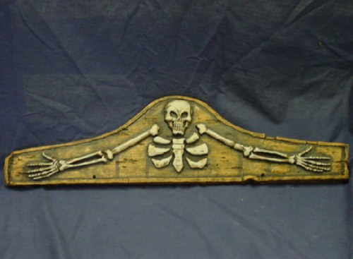 Skeleton Plaque Halloween Concrete Plaster Cement Mold 8002 Moldcreations