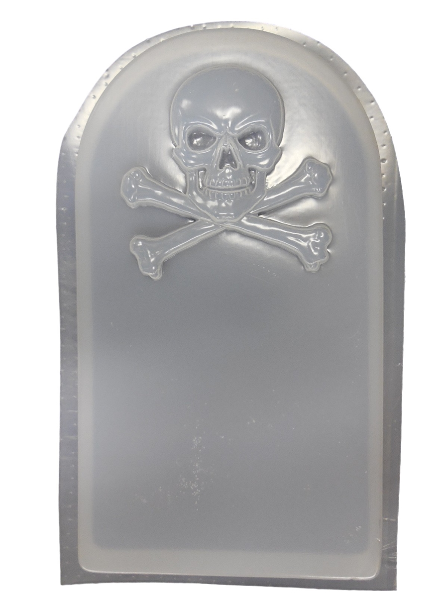 Skull Cross Bones Tombstone Concrete Mold 8012