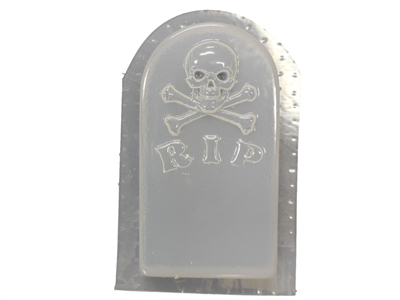 Skull Tombstone Concrete or Plaster Mold 8013