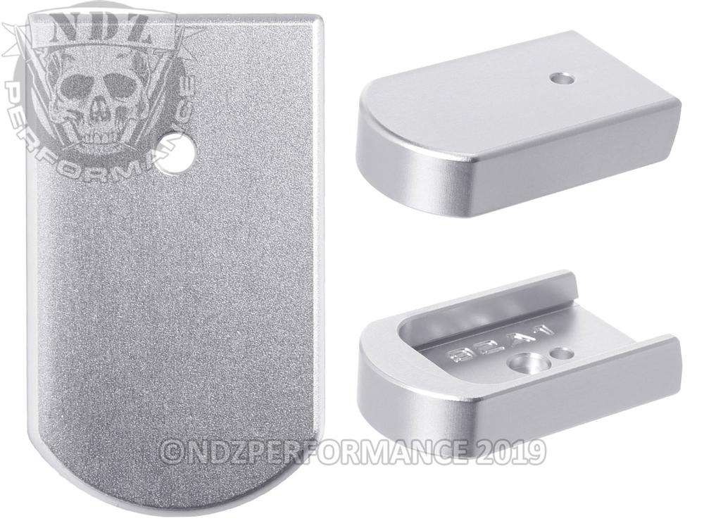 NDZ Magazine Plate for Beretta 92A1 96A1 M9A3 92X INOX Silver (*LZ)