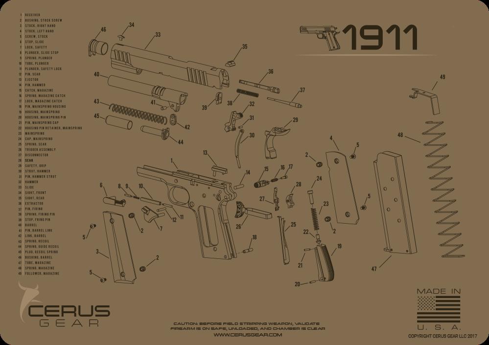 Cerus Gear Pistol Mat for 1911 Schematic Coyote Brown on remington 121 schematic, m16 schematic, sig sauer mosquito parts schematic, power supply schematic, fal schematic, kel-tec p3at schematic, kel-tec pf-9 schematic, walther ppk schematic, switch schematic, 2011 pistol schematic, benelli m2 schematic, benelli m4 schematic, hydraulic schematic, 1903 springfield schematic, transistor schematic, beretta 92fs breakdown schematic, rpd schematic, kimber schematic, ar-15 schematic, relay schematic,