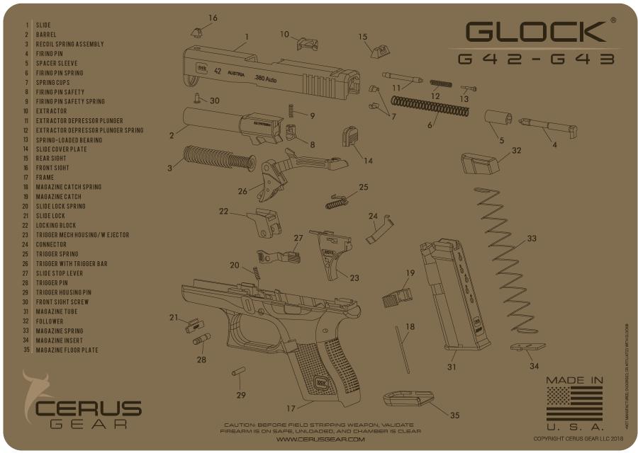 cerus gear handgun glock 43 43