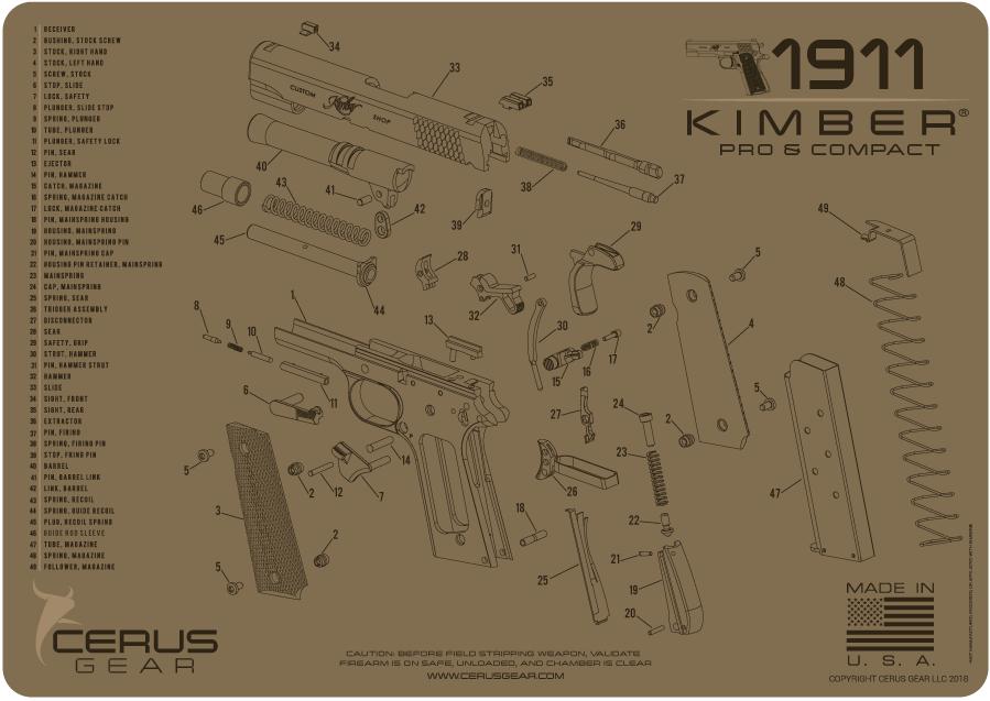 cerus gear handgun kimber 1911