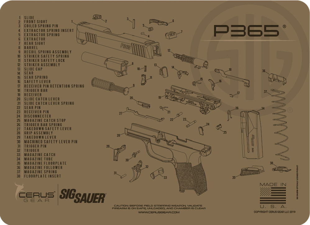 Handgun Schematic Diagram on