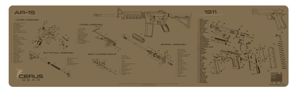 Cerus Gear Gun Mat for AR-15 & 1911 Combo Schematic Magnum ... on transistor schematic, kel-tec pf-9 schematic, rpd schematic, hydraulic schematic, kel-tec p3at schematic, 2011 pistol schematic, 1903 springfield schematic, kimber schematic, relay schematic, beretta 92fs breakdown schematic, benelli m2 schematic, benelli m4 schematic, switch schematic, fal schematic, ar-15 schematic, walther ppk schematic, m16 schematic, remington 121 schematic, power supply schematic, sig sauer mosquito parts schematic,