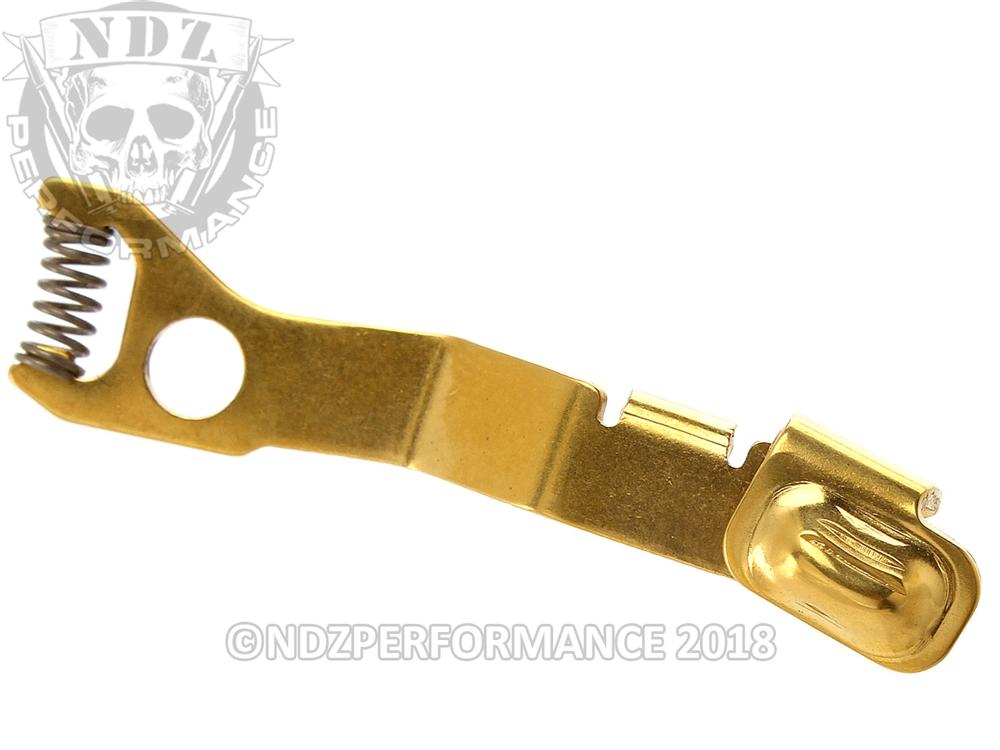 Ghost GHO-ESR4243 Black Teflon Coated Extended Slide Release ESR For Glock 42//43