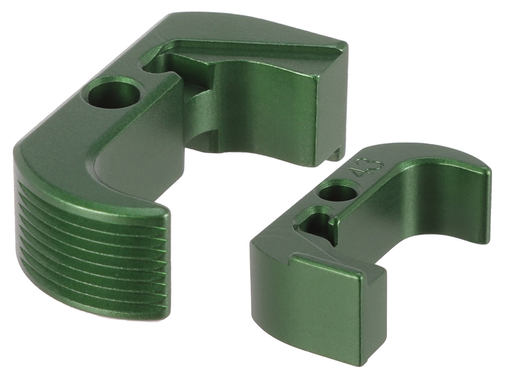 NDZ Green Extended Magazine Release - Reversible for Glock 43 (*LZ)