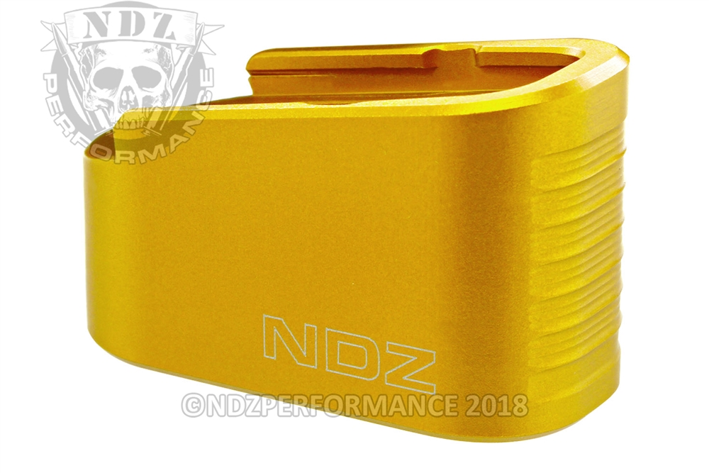 NDZ Gold +2 Magazine Plate Extension for Glock 43 (*LZ)