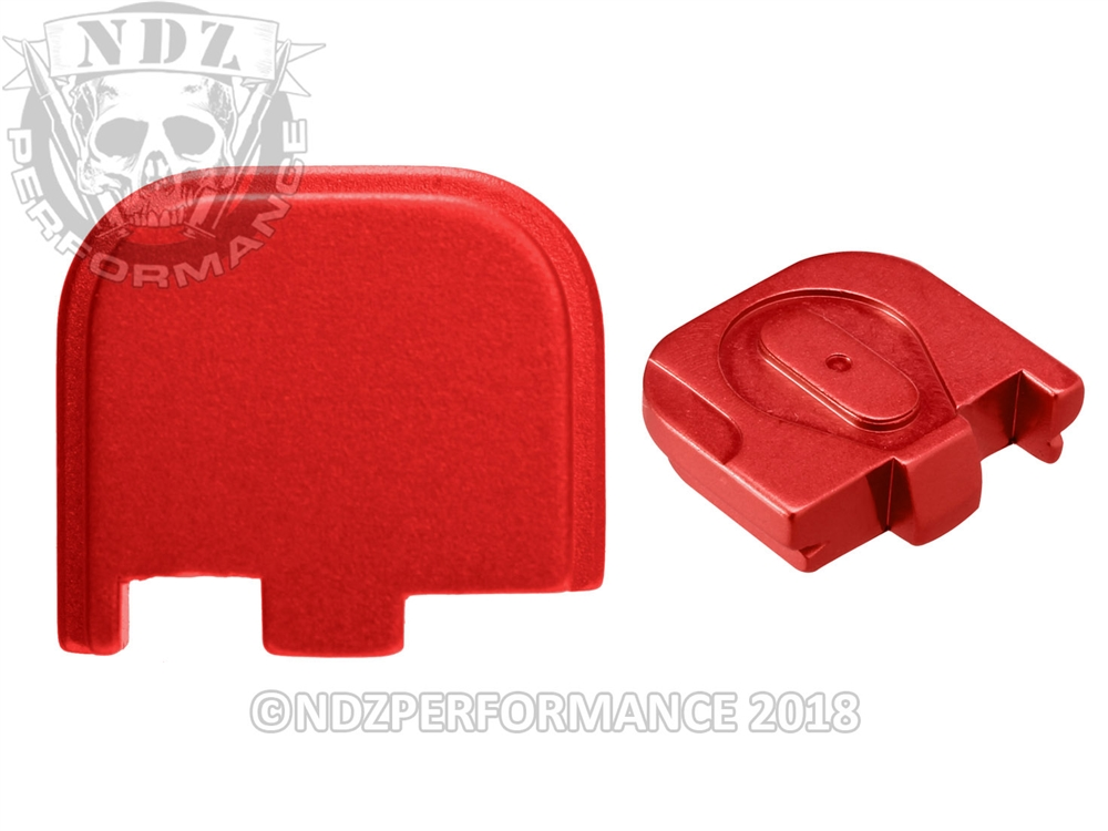 NDZ Red Glock 43 43x 48 Slide Cover Plate (*LZ)
