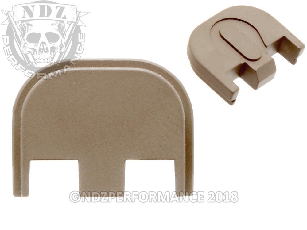NDZ Cerakote FDE Glock Gen 5 Slide Plate 17 19 19x 26 34 45