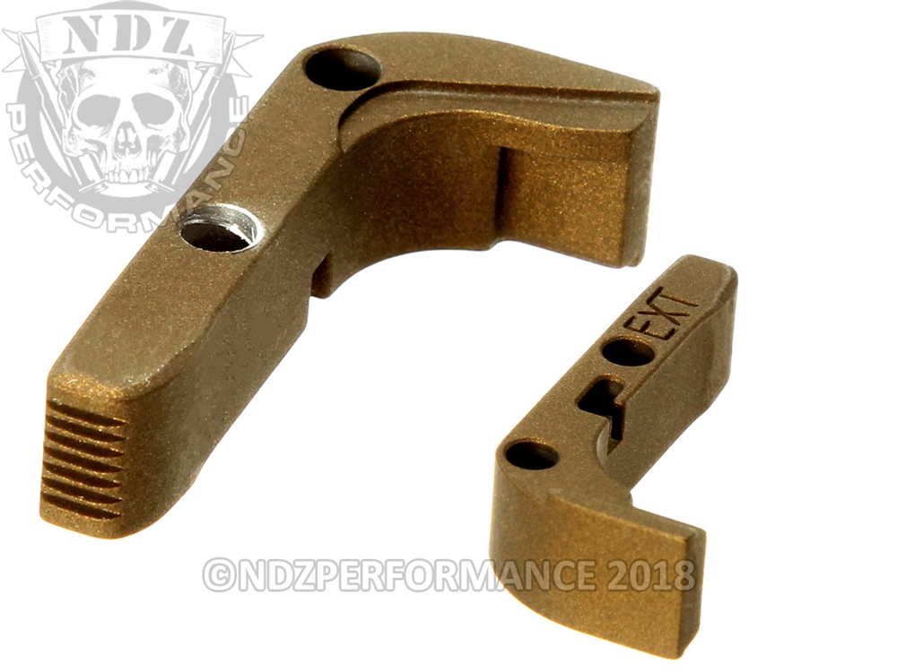 Aftermarket Burnt Bronze Extended Mag Release For Glock Gen 1 3