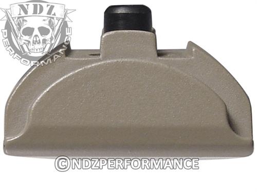NDZ Cerakote FDE Grip Plug AL9 With Backstrap Installed for Glock 17, 17L,  18, 19, 22, 23, 24, 25, 31, 32, 34, 35, 37, 45 Gen 4-5