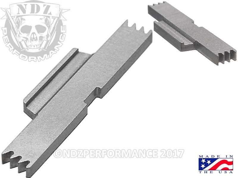 NDZ Silver Extended Slide Lock Lever for Glock Gen 1-5