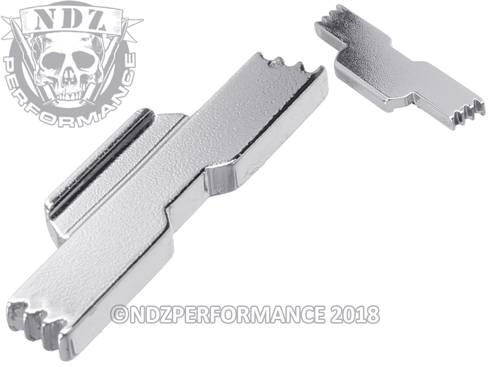 NDZ Extended Slide Lock Lever ESLL for Glock 43 Chrome