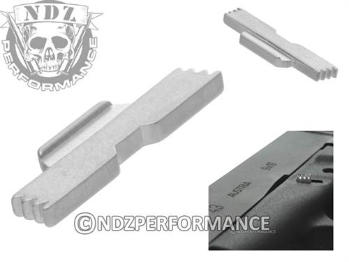 NDZ Silver Extended Slide Lock Lever ESLL for Glock 43