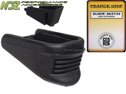 Pearce Grip Pg 2733 Plus One Extension For Glock 26 27 33 39