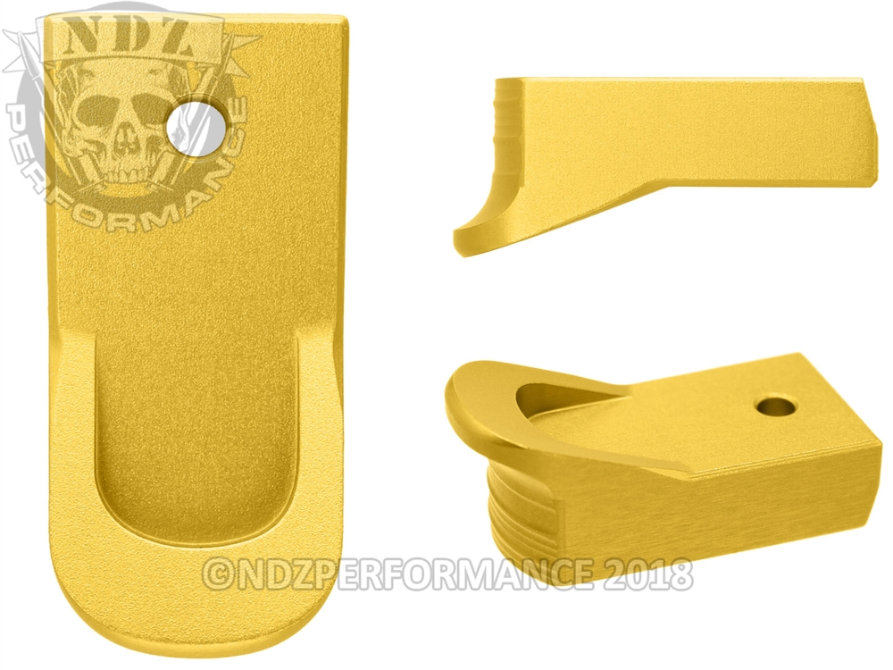 NDZ Magazine Plate Finger Extension for Ruger LCP 2  380 Gold